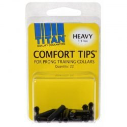 Titan Comfort Tips for Prong Training Collars (Heavy [3.3 mm] - 22 Count)