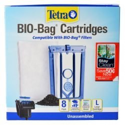 Tetra Bio-Bag Cartridges with StayClean - Large (8 Count)