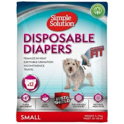 """Simple Solution Disposable Diapers (Small - 12 Count - [Waist 15""""-19""""])"""