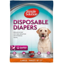 """Simple Solution Disposable Diapers (Large - 12 Count - [Waist 18""""-22.5""""])"""