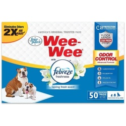 Four Paws Wee-Wee Pads - Febreze Freshness (50 Count)
