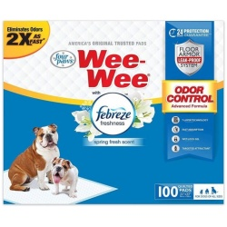 Four Paws Wee-Wee Pads - Febreze Freshness (100 Count)