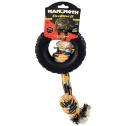 "Mammoth Tirebiter II Dog Toy with Rope Medium (1 count [5""D])"