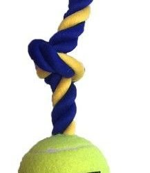 """86826 217x250 - Petsport Mini 3-Knot Cotton Rope with Tuff Ball (1 count [1.8""""W])"""