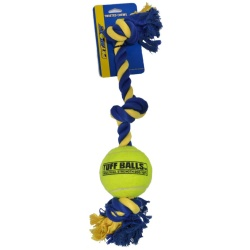 """86832 250x250 - Petsport Giant 3-Knot Rope with Tuff Ball (1 count [4""""W])"""