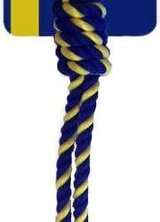 """86834 180x250 - Petsport Knotted Cotton Rope Tug with Tuff Ball (1 count [2.5""""W])"""