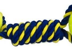 86836 250x174 - Petsport Knotted Rope Bumper with Tuff Balls (2?L X 2.5?W)