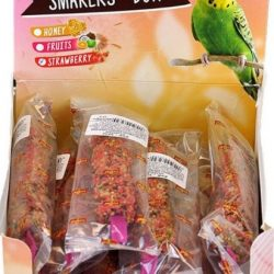 A&E Cage Company Smakers Parakeet Strawberry Treat Sticks (12 count)