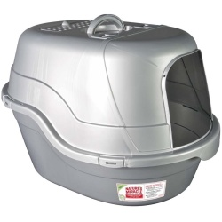 57596952 250x250 - Nature's Miracle Silver Oval Hooded Litter Box